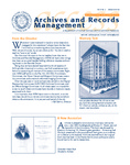 Volume 6 Number 2 by Archives and Records Management, Syracuse University