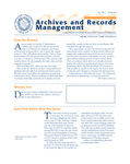Volume 7 Number 1 by Archives and Records Management, Syracuse University
